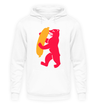 Berlin Bear With Currywurst - Hoodie