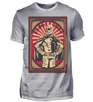 Herren Kurzarm T-Shirt Lucha Libre Ramirez