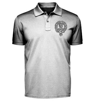 Band Polo Shirt mit gesticktem Logo