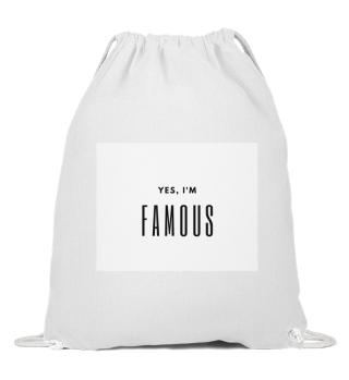 Famous Cotton Drawstring Bag