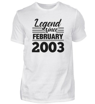 Legend Since February 2003