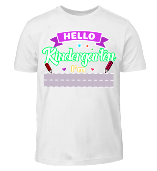 Hello Kindergarten mit eigenem Namen