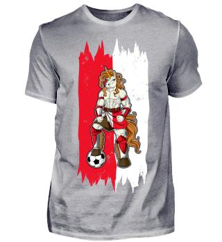 I Poland Einhorn Fussball Polen T-Shirt WM Shirt Nationalmannschaft Fanshirt Länder