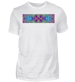 # green pink and blue psy design #