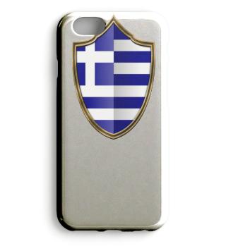 Griechenland-Greece Wappen Flagge 016