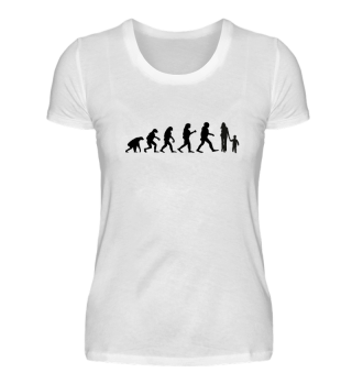 Evolution Familie Mutter Kind Geschenk