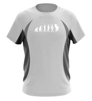 Evolution zu Hochzeit - Tshirt