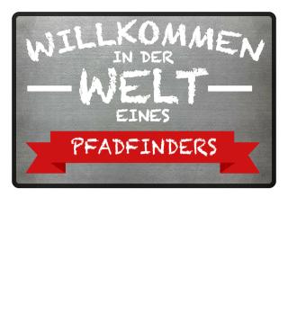 WILKOMMEN PFADFINDER - FUSSMATTE