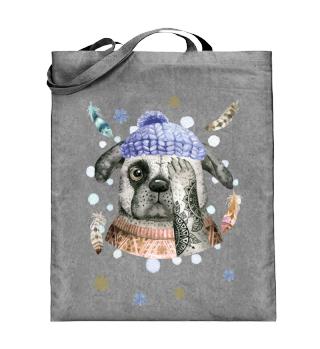☛ Merry Christmas · Boho Dog · Hund #11C