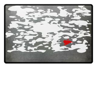 ★ Crazy WHITE & RED INK SPLASHES
