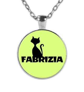 Fabrizia Fabi Name Kette süße Katze love