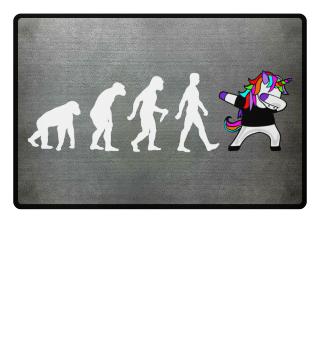 Evolution Of Humans - Dabbing Unicorn 2a