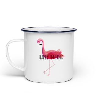 Flamingo - Happy in PINK (Tasse)