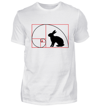 ★ Fibonacci Spiral - RABBIT red black