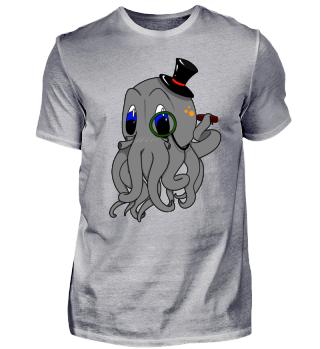 Monokel Oktopus Kids Shirt|Jungs&Mädchen