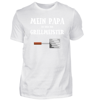 Papa Grillmeister Grillen Vatertag Idee