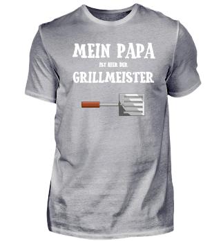 Papa Grillmeister Grillen Vatertag Idee