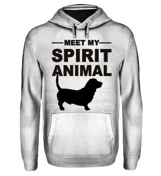 Meet Spirit Animal - basset hound black