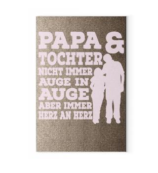 Leinwand - Papa & Tochter immer Herz an Herz