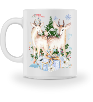 ♥ MERRY CHRISTMAS · DEER #11CT