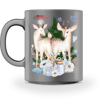 ♥ MERRY CHRISTMAS · DEER #11CT