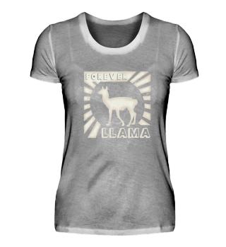 Forever Llama Love Lama retro gift