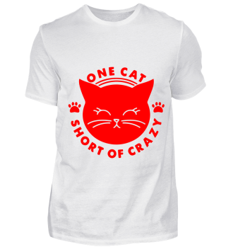 GIFT- ONE CAT SHORT OF CRAZY RED