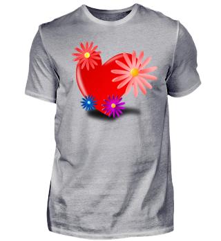 Herz mit Blummen