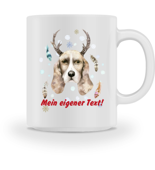 ☛ Merry Christmas · Boho Dog · Tasse