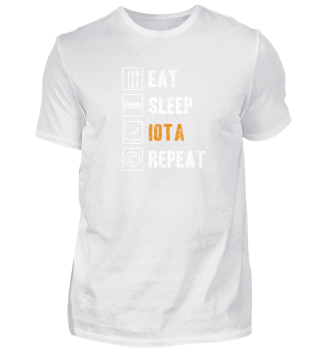 Eat Sleep IOTA Repeat Crypto Shirt Gift