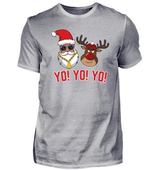 Gangsta Santa Rudolph Yo Yo Yo Christmas