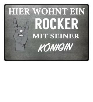 ROCKER KÖNIGIN - FUSSMATTE