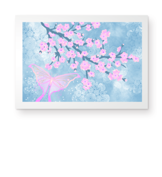 ★ Cherry Blossoms Butterfly Mandala 1a