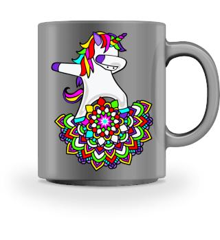 Dabbing Rainbow Unicorn - Mandala Dab