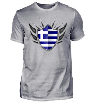 Griechenland-Greece Wappen Flagge 013