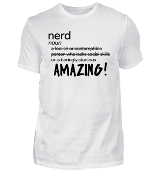 Nerd - noun as Amazing!- nerdy - Genie - Brain - Geschenk