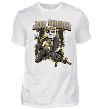 John Bamboo Panda Bär Soldat Veteran
