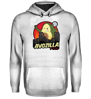 Funny Avocado Monster Avozilla Kaiju
