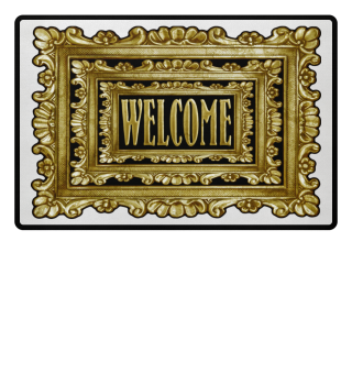 ★ Vintage Frame Mirror - welcome II
