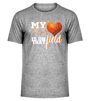 Baskeball heart on field