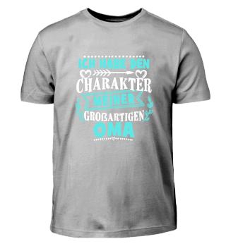 Kinder Shirt - Charakter meiner Oma