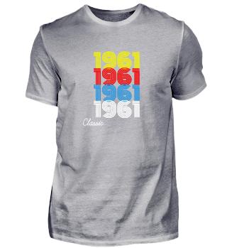 Vintage 1961 T-Shirt Men Women gift idea