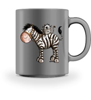 Zebrareiter - Katze - Zebra - Reiten