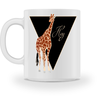♥ Triangle Hey GIRAFFE brown MUG