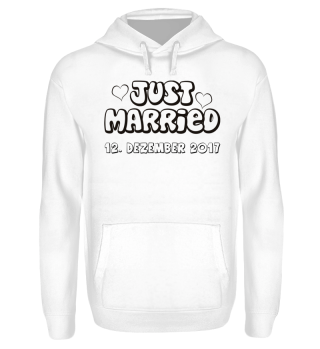 JUST MARRIED - Name schwarz