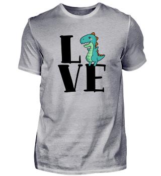 Lustiges Dinosaurier Liebe T-Rex T Shirt