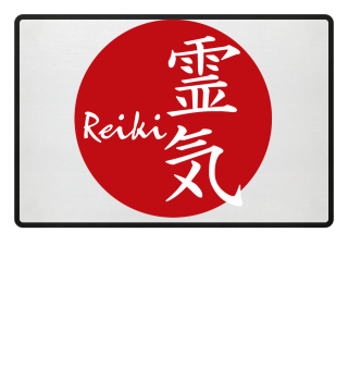 ★ Reiki Healing Energy Sign - red white