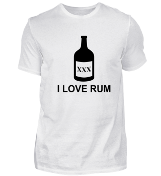 I Love Rum Alkohol saufen Geschenk Idee