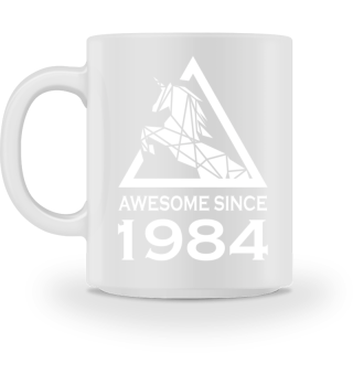 Unicorn Einhorn 1984 Tasse Geschenk