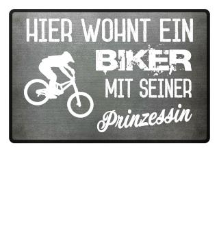 BIKER PRINZESSIN - FUSSMATTE